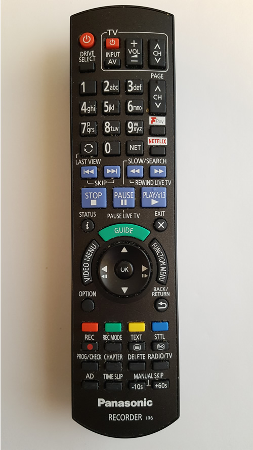 panasonic remote repair