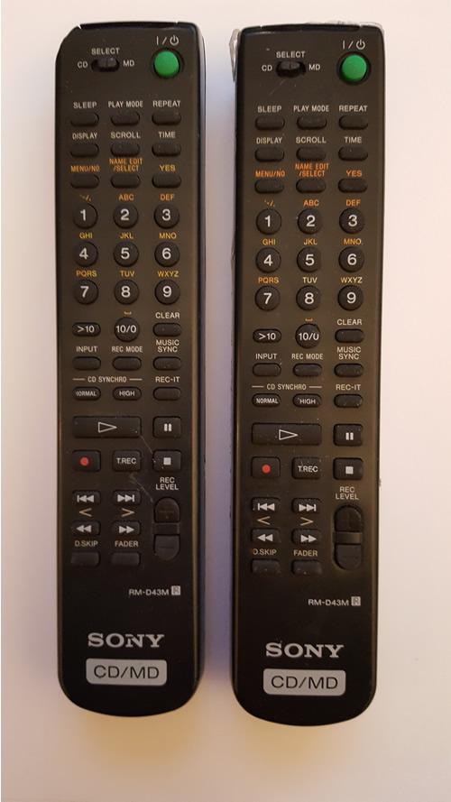 SONY MXD-D40 - RM-D43M