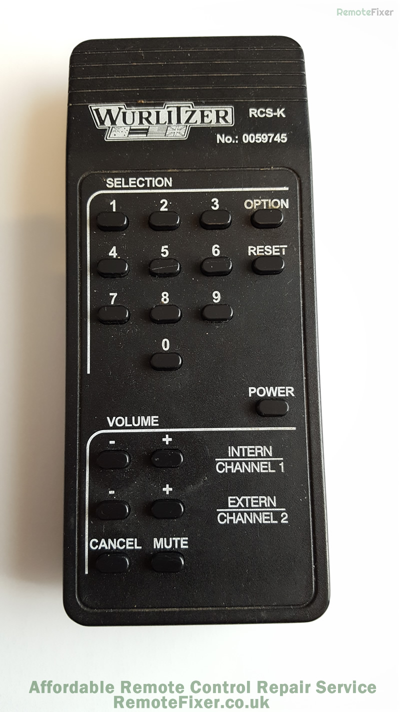 wurlitzer remote repair
