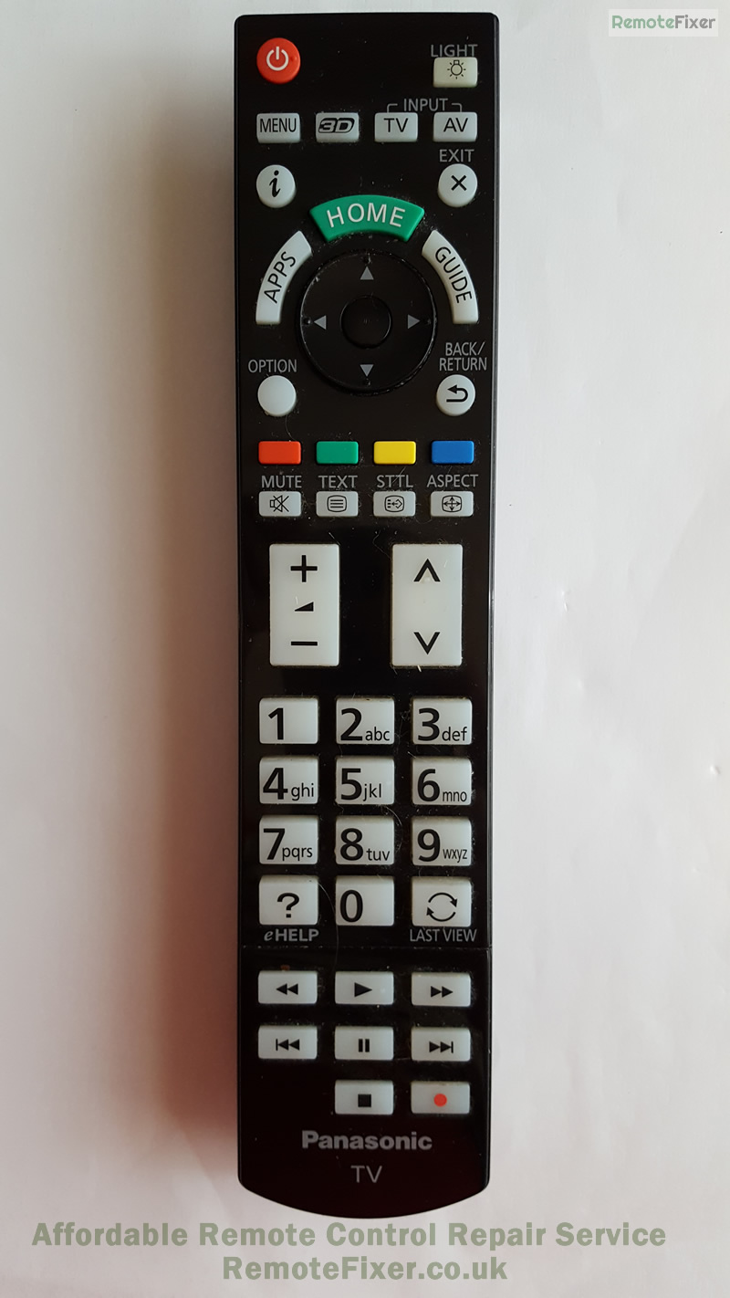 Panasonic remote repair